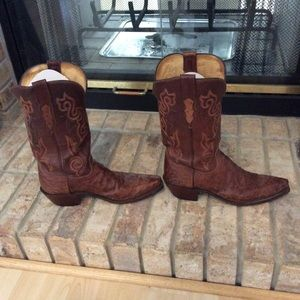 Lucchese Women's Ostrich Boots Size 8 1/2